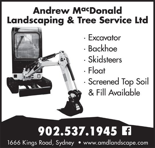 Andrew MacDonald Landscaping & Tree Service Ltd (902-537-1945) - Annonce illustrée======= -