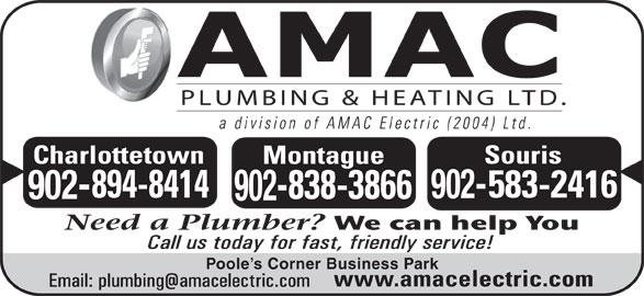 AMAC Electric (2004) Ltd (902-838-3866) - Display Ad - Poole s Corner Business Park