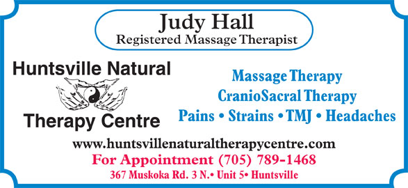 Ads Huntsville Natural Therapy Centre - Judy Hall R.M.T