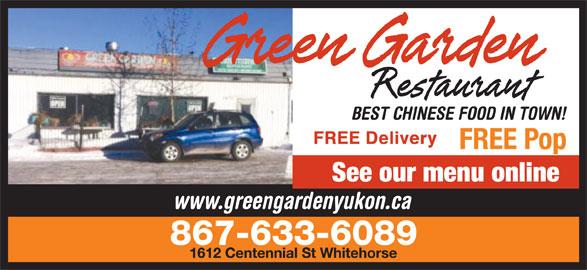 Green Garden Restaurant (867-633-6089) - Display Ad -