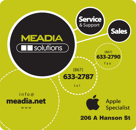 MEADIAsolutions (867-633-2787) - Display Ad - 206 A Hanson St