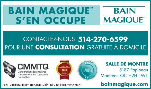 Bain Magique (514-270-6599) - Annonce illustrée======= - MD BAIN MAGIQUE S EN OCCUPE