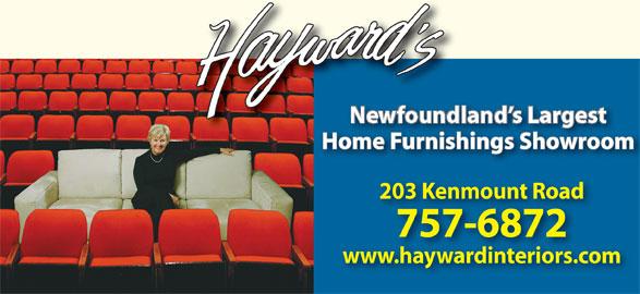 Hayward Interiors (709-726-3452) - Annonce illustrée======= -