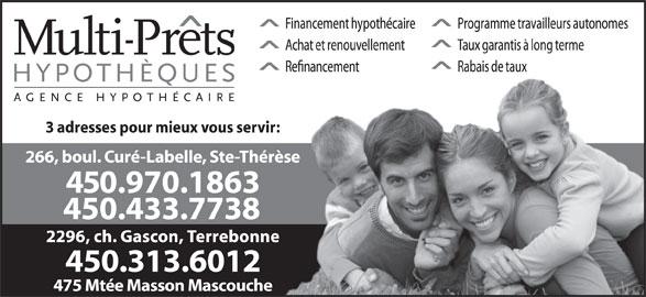 Multi-Prêts Hypothèques (450-433-7738) - Annonce illustrée======= -