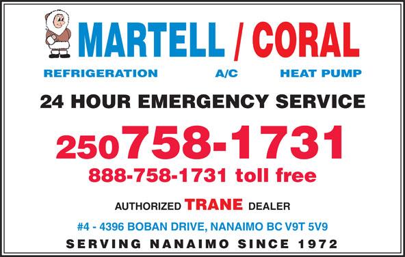Martell Refrigeration Ltd (250-758-1731) - Display Ad -