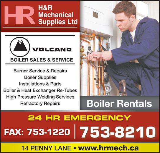 H R Mechanical Newfoundland H  amp R Mechanical Supplies Ltd