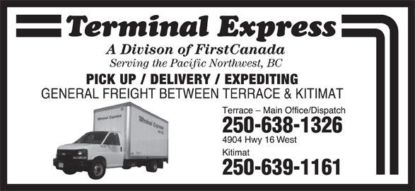 Terminal Express FirstBus Canada (250-638-1326) - Display Ad -