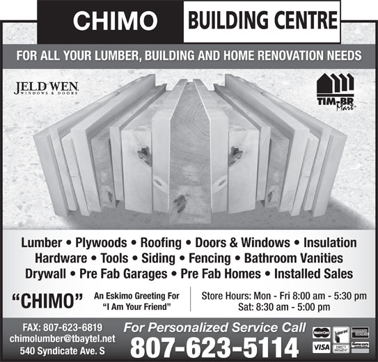 Chimo Building Centre Thunder Bay On 540 Syndicate