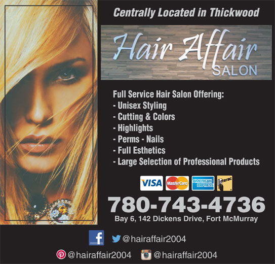 Hair Affair (780-743-4736) - Display Ad -