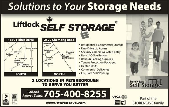 Liftlock Self Storage (705-750-4555) - Display Ad -