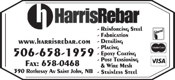 Harris Rebar (506-658-1959) - Display Ad - www.harrisrebar.com 506-658-1959