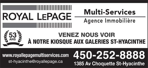 Royal LePage (450-252-8888) - Annonce illustrée======= -