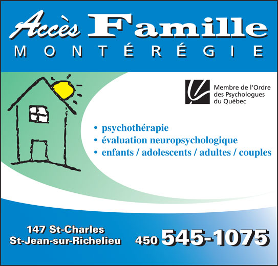 Ads Accès Famille Montérégie
