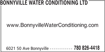 Ads Bonnyville Water Conditioning Ltd