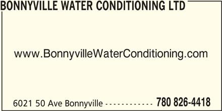 Ads Bonnyville Water Conditioning Ltd