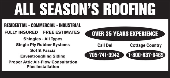 Ads All Season's Roofing