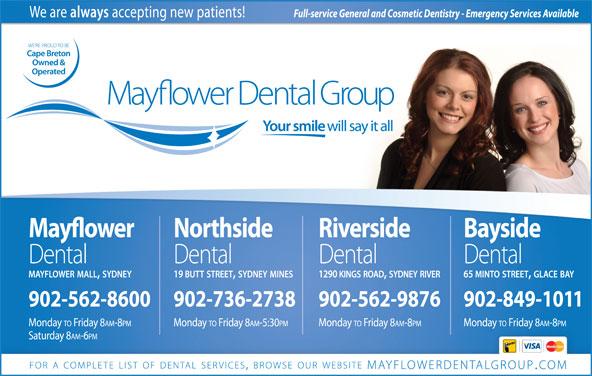 Mayflower Dental Group (902-562-8600) - Display Ad -
