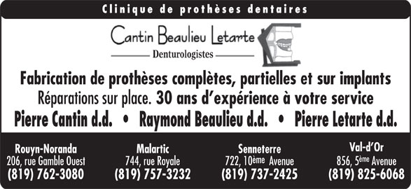 clinique de protheses dentaires cantin beaulieu letarte d
