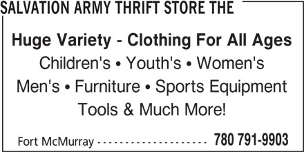 Ads Salvation Army Thrift Store