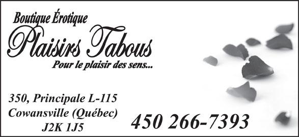 Plaisirs Tabous (450-266-7393) - Annonce illustrée======= -
