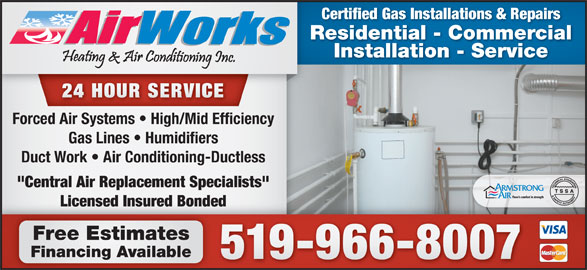 Airworks Heating Amp Air Conditioning Inc Opening Hours On