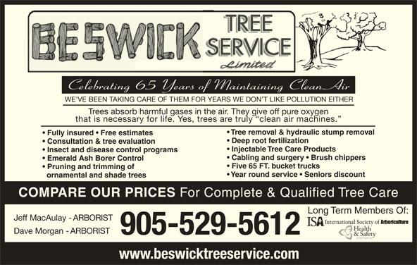 Burlington Hours Today Near Me >> Beswick Tree Service Ltd - Opening Hours - 418 Whitney Ave, Hamilton, ON