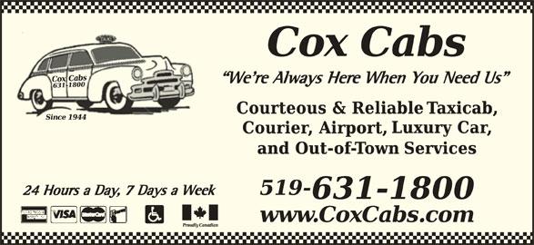 Cox Transportation Limited (519-631-1800) - Annonce illustrée======= -