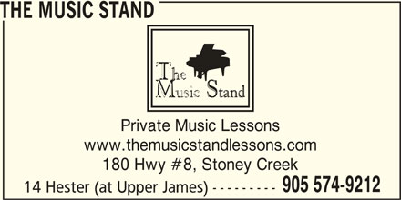 The Music Stand (905-574-9212) - Display Ad -