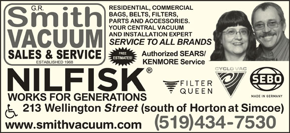 G R Smith Vacuums Sales Amp Service Opening Hours 213
