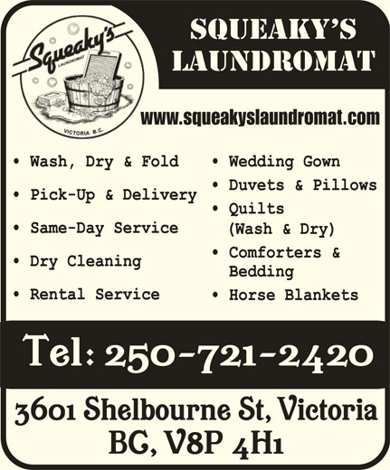 Canada Zeno Investment Ltd (250-721-2420) - Display Ad - www.squeakyslaundromat.comww
