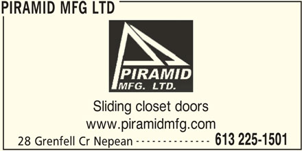 Piramid Mfg Ltd (613-225-1501) - Display Ad -