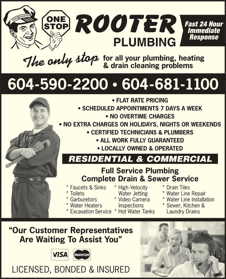 Ads One Stop Rooter Plumbing