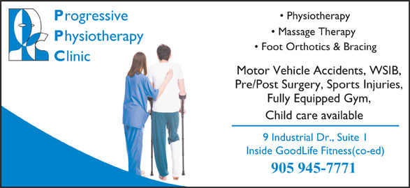 Progressive Physiotherapy (905-945-7771) - Display Ad -
