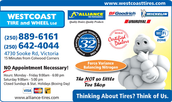 Ads West Coast Tire & Wheel Ltd