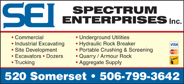 Spectrum Enterprises Inc (506-632-0020) - Annonce illustrée======= -