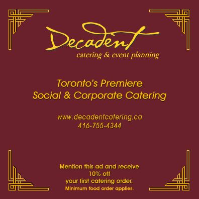 Decadent Catering & Fine Foods Inc (647-693-9869) - Promo