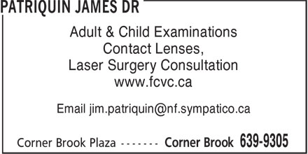Patriquin James Dr (709-639-9305) - Display Ad