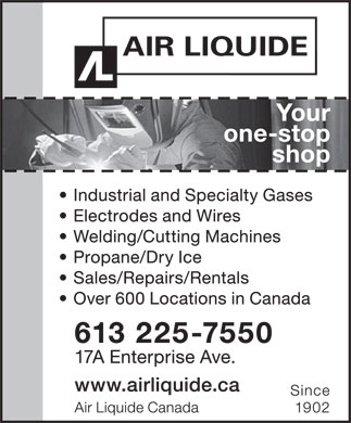 Air Liquide Canada (613-225-7550) - Display Ad