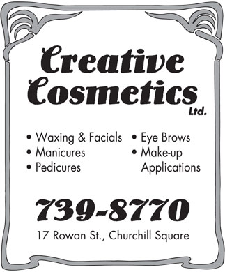 Creative Cosmetics Ltd (709-739-8770) - Display Ad - 17  17