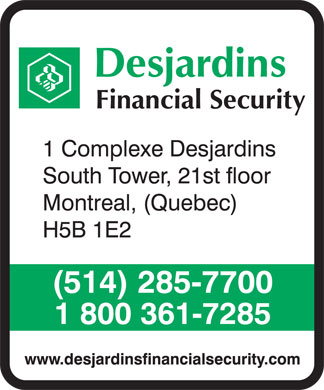 Desjardins Financial Security (514-285-7700) - Annonce illustrée