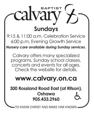 Calvary Baptist Church (905-433-2960) - Display Ad
