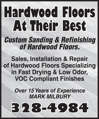 Hardwood Floors At Their Best (506-328-6034) - Annonce illustrée