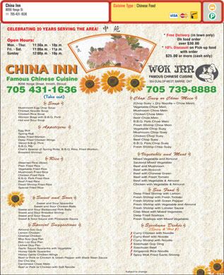 Chinese Restaurant Barrie Yonge Street