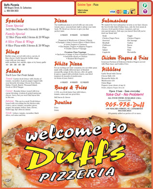 Duffs Pizzeria (905-938-3833) - Display Ad