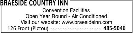 Braeside Country Inn (902-485-5046) - Display Ad