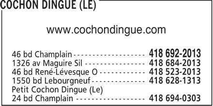 Cochon Dingue (Le) (418-692-2013) - Annonce illustr&eacute;e