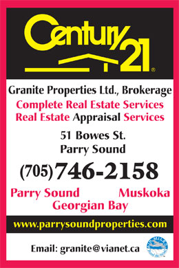 Century 21 Granite Properties Ltd (1-855-334-5542) - Display Ad