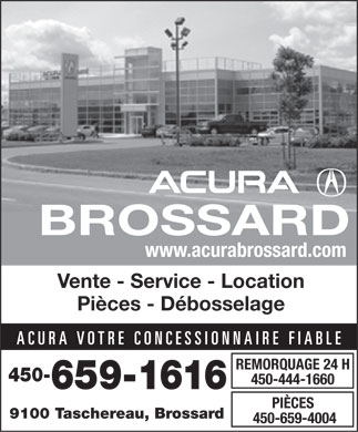 Acura Brossard (450-659-1616) - Display Ad