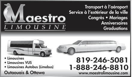 Maestro Limousine (1-888-246-8810) - Display Ad