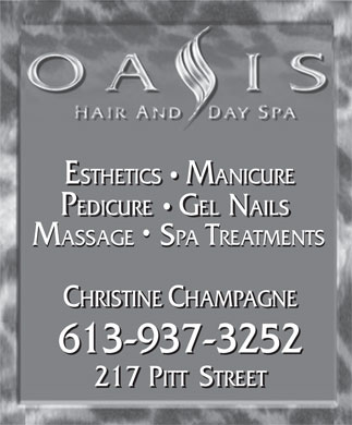 Oasis Hair & Day Spa (613-937-3252) - Display Ad